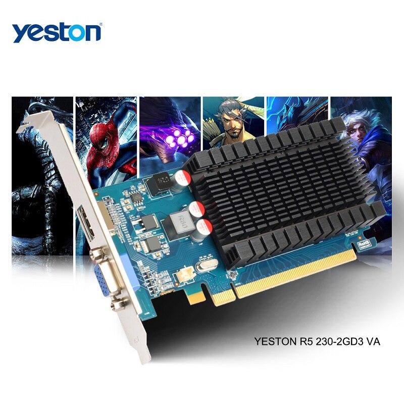 Yeston Graphics-Cards Computer Pc-Video GDDR3 Gaming Desktop PCI-E Radeon-R5-230-Gpu