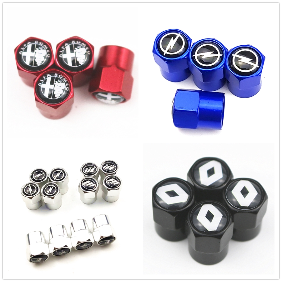 4pcs metal Car Tire Valve <font><b>Caps</b></font> For <font><b>VW</b></font> NISAAN Mercedes Benz Lexus Nissan ford focus MITSUBISHI BMW AUDI Toyota HONDA Accessories image