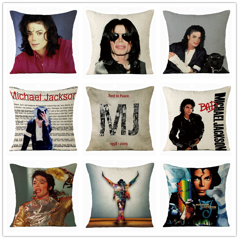 Michael Jackson Pillow Case Cosplay Costume Printing For Home Decorative Pillows Cover Invisible Zippered Throw PillowCases A1-2