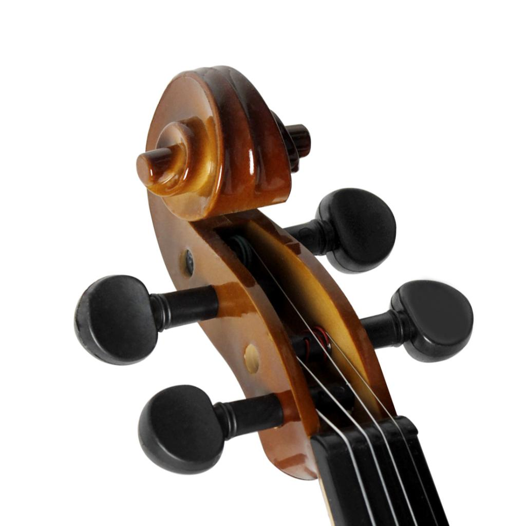Solid Wood Violin Boi0with Rosin Bow Case for Beginners Students Music Lovers