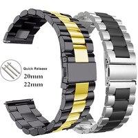 18 20 22mm 24mm Uhr band für getriebe S3 S2 schleife Edelstahl armband für galaxy uhr 46 45mm für Amazfit Bip Huawei GT Strap