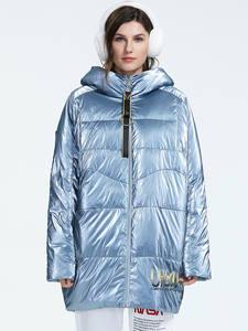 Astrid 2019 Зима Новое поступление пуховик женская свободная одежда верхняя одежда высокое качество толстый хлопок средней длины зимнее куртка ...