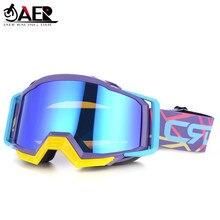 JAER-Gafas de Motocross de marca 100%, para casco de motocicleta ATV DH MTB
