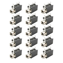 Montagem do pwb PJ-316 3.5mm fêmea jack soquete de 3 pinos fone de ouvido jack terminais de vídeo de áudio conector dip-3 pj316 3.5mm preto