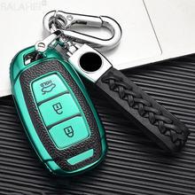 Кожаный + ТПУ чехол для автомобильных ключей hyundai i30 ix35