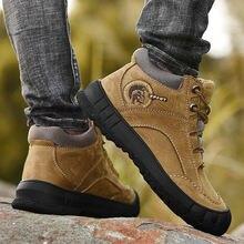 Супер теплые водонепроницаемые ботинки для мужчин размера плюс