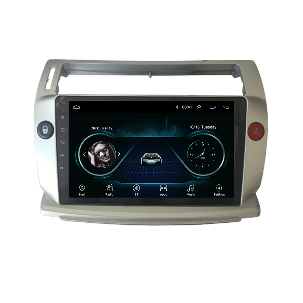 4G LTE Android 10.1 For Citroen C4 C-Triomphe C-Quatre 2004-2009 Multimedia Stereo Car DVD Player Navigation GPS Radio