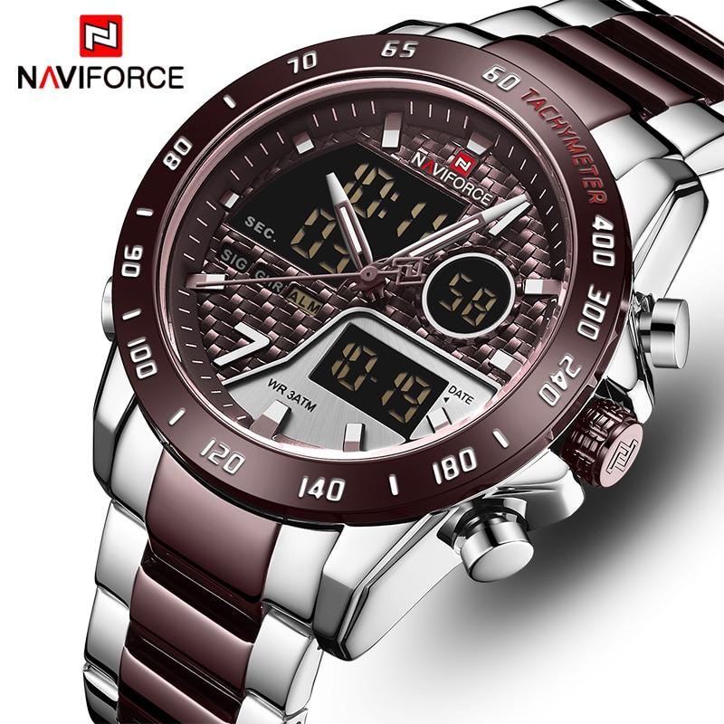 NAVIFORCE New Men Watch Top Luxury Brand Men's Waterproof Sport Watches Quartz Analog Digital Wristwatch Clock Relogio Masculino