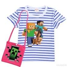Enfants Minecraft coton jeu tshirt short marmelades Cadeau Confortable