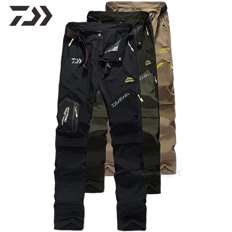 Daiwa Clothing Fishing Pants Waterproof Stretch Quick Dry Trousers Autumn Winter Pants Men Mountain Climbing Trekking Outdoor