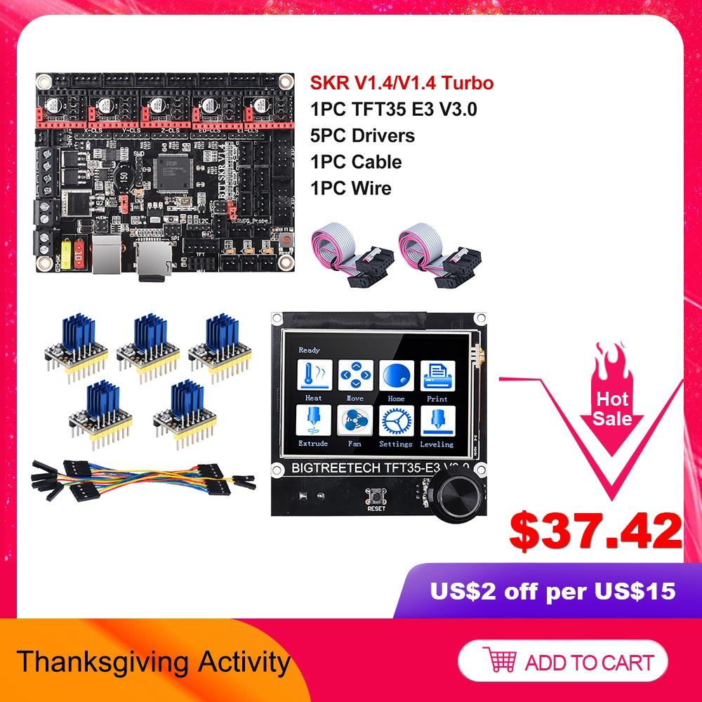 BIGTREETECH SKR V1 4 BTT SKR V1 4 Turbo 32 Bit Board TFT35 E3 V3 0 3D Printer Parts TMC2130 TMC2209 TMC2208 vs MKS SGEN L Ender3