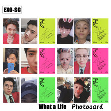 Kpop EXO SC Paper Photo Cards Sehun Chanyeol Mini Album Autograph Photocard What a Life Photograph Cards