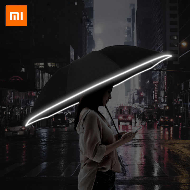 2020 New Xiaomi Zuodu Automatic Reverse Umbrellas Inverted Reflective Foldable Safe Night Strong Anti-Wind Frame In Stock