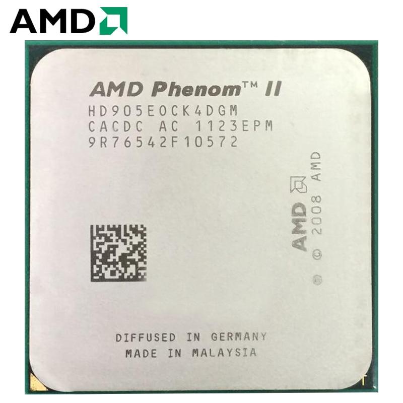 AMD Phenom II X4 905E X905E 65W Quad-Core AM3 938 CPU 100% working properly Desktop Processor 2.5GHz Socket AM3 1