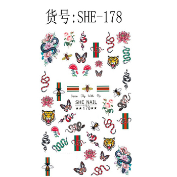 Popular Nail Manicure Sticker LUXURY Brand Logo Letter Nail Sticker Back Glue Adhesive DIY Decals Foil Manicure Nail Art Sticker 10pcs brand nail stickers linear flower pattern nail art decorations slider for nail manicure adhesive diy decals foil nail art