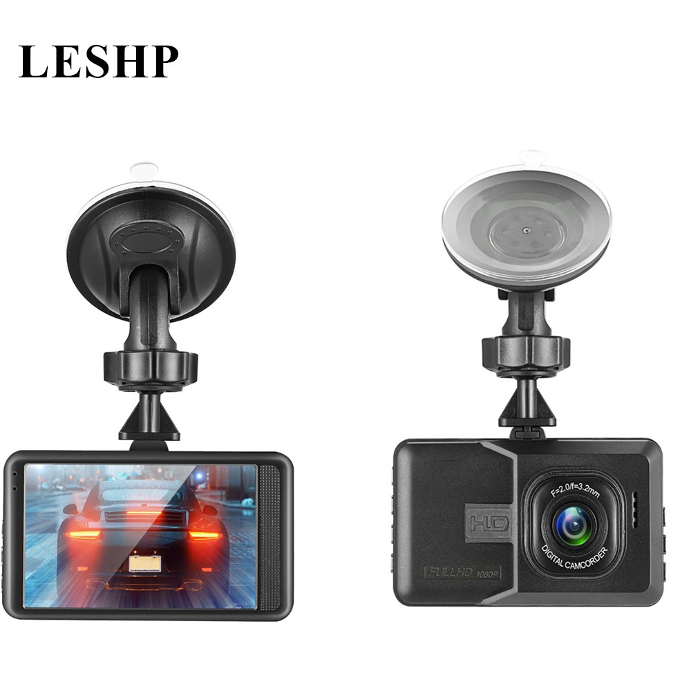 DVR Video-Recorder Dash-Cam Night-Vision WIFI 1080P Car with 120-Degree G-Sensor Dual-Lens title=