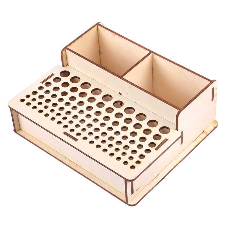 Bricolage bois cuir artisanat porte outils support support en cuir timbre  poinçon accessoires boîte de rangement organisateur   AliExpress