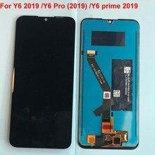 หน้าจอ LCD ต้นฉบับสำหรับ Huawei Y6 2019 MRD LX1N Y6 Pro (2019) y6 PRIME 2019 จอแสดงผล LCD TOUCH Digitizer ASSEMBLY + กรอบ