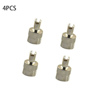 4pcs Copper Slotted Head Vehicle Tire Wheel Tool Cap Valve Caps US Type Core Removal Tool For Cars Vehicles image