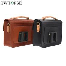 TWTOPSE Cycling Bike Bicycle Leather Bag For Brompton Folding Bike Women Bike Bicycle