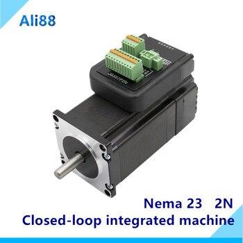 Nema 23 motor paso a paso de bucle cerrado 2.0Nm D = 8mm híbrido servo INTEGRADO Motor de la máquina con soporte de accionamiento Comunicación RS485