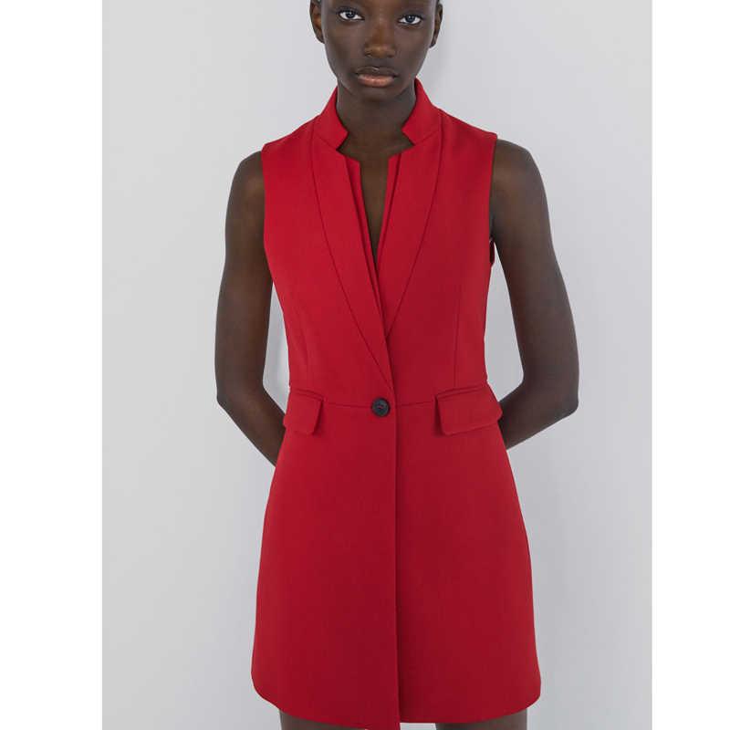 Rr bolsos sem mangas coletes moda feminina gola casacos feminino botões elegantes sólidos coletes femininos hn