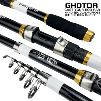 Ghotda Telescopic Fishing Rod Spinning 2.1 2.4 2.7 3.0 3.6M