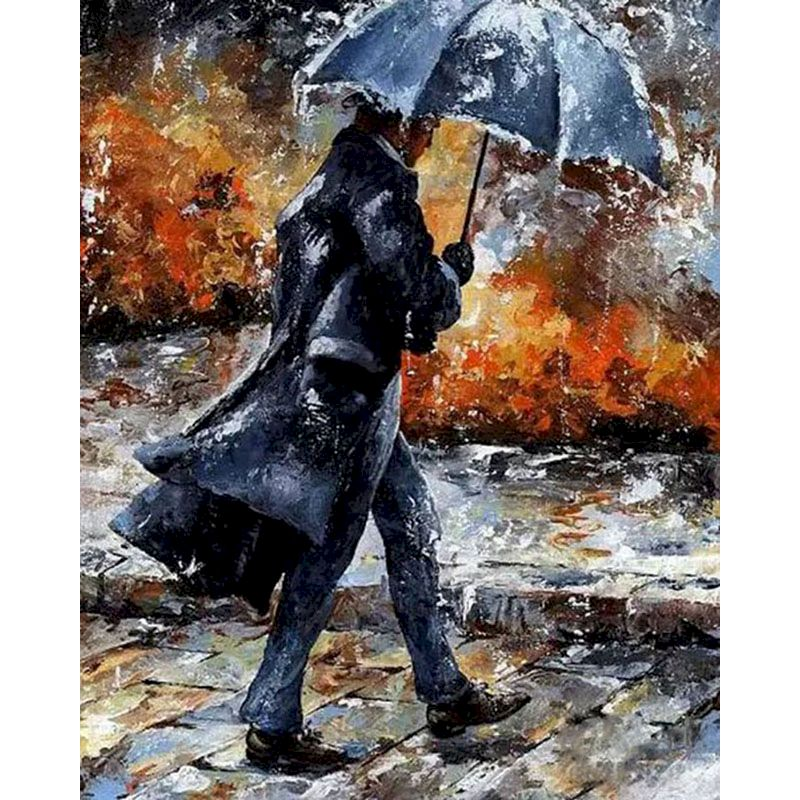 RUOPOTY Painting By Numbers DIY Walking In The Rain Acrylic Paint On Canvas beautiful HandPainted Gift Pictures For Home Decor-0