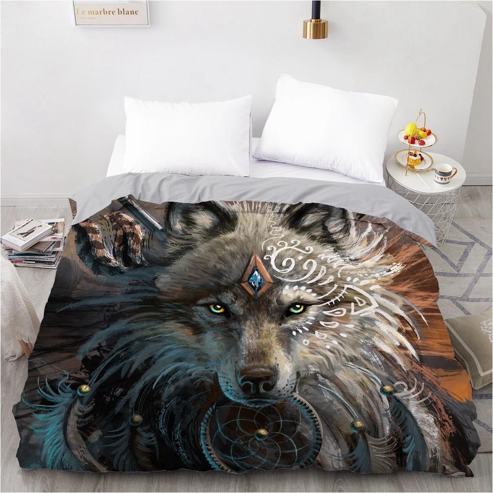 3D HD Digital Printing Custom Duvet Cover,Comforter/Quilt/Blanket Case Queen King Bedding 200x220 140X200,Bedclothes Animal Wolf