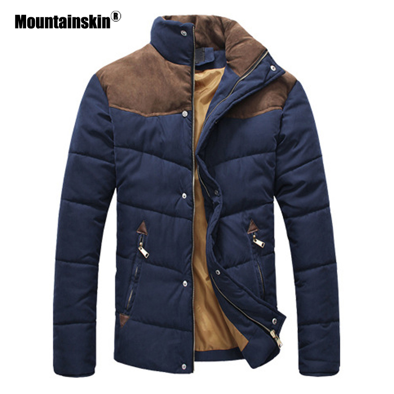 Mountainskin Autumn Winter Coats Men   Parka   Cotton Warm Thick Jackets Padded Coat Male Outerwear Jacket Mens Brand Clothing SA787