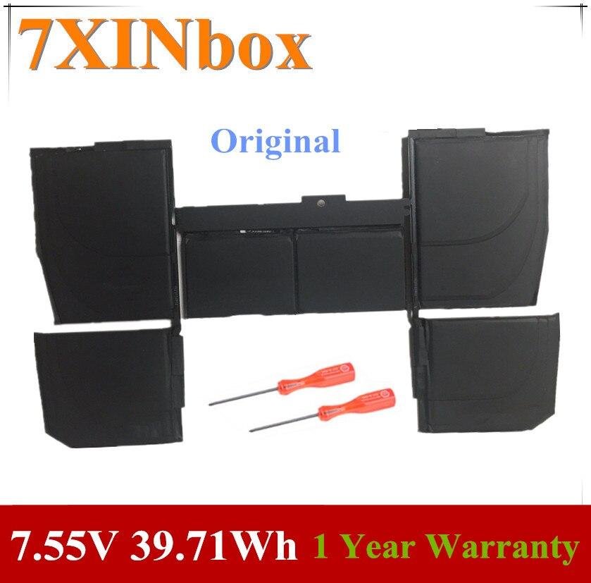 """7 39.71Wh XINbox 7.55V 5263mAh Bateria Do Portátil Para Apple Macbook Pro Retina 12 A1527 """"A1534 2015 2016 2017 Ano MF855 MJY32 MK4M2"""
