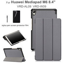 Magnet Case for huawei mediapad m6 8.4 VRD-AL09 VRD-W09 2019 Flip Stand Pu Leather  Funda Cover case +gift