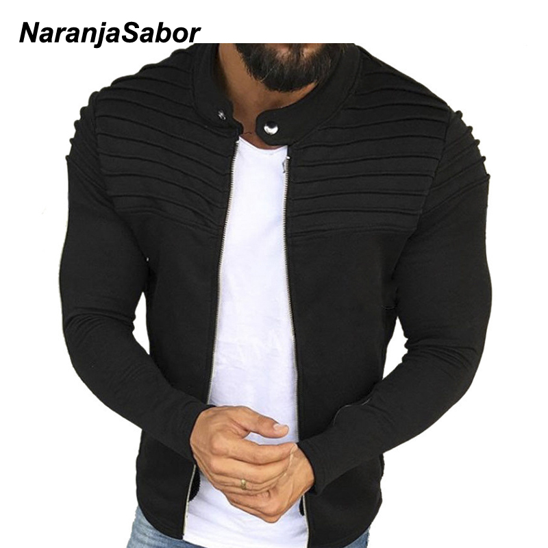 NaranjaSabor 2020 Spring Autumn Mens Cardigan Button Hoodies Fashion Sweatshirt Casual Male Tracksuits Men Brand Clothing N652
