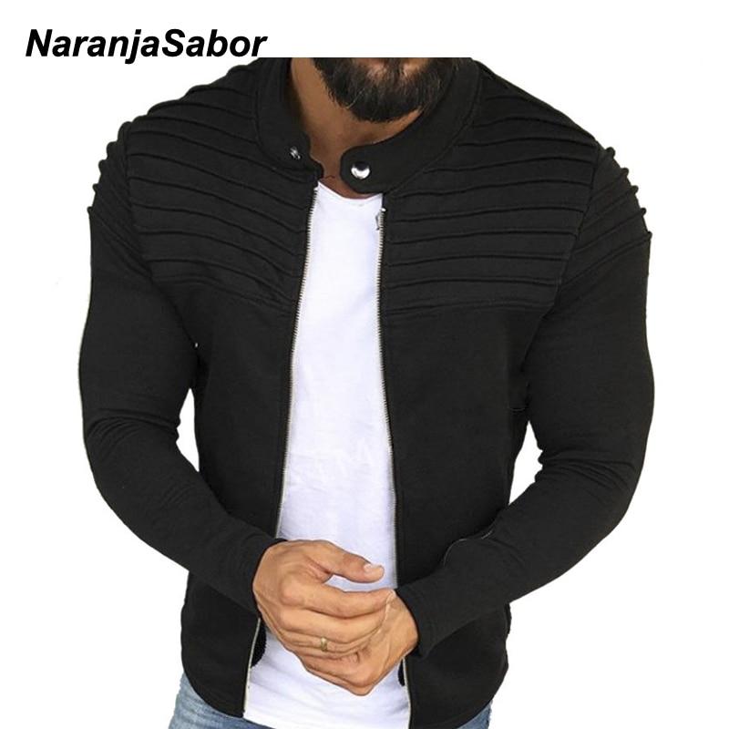 NaranjaSabor 2020 Spring Autumn Mens Cardigan Button Hoodies Fashion Sweatshirt Casual Male Tracksuits Men Brand Clothing N652