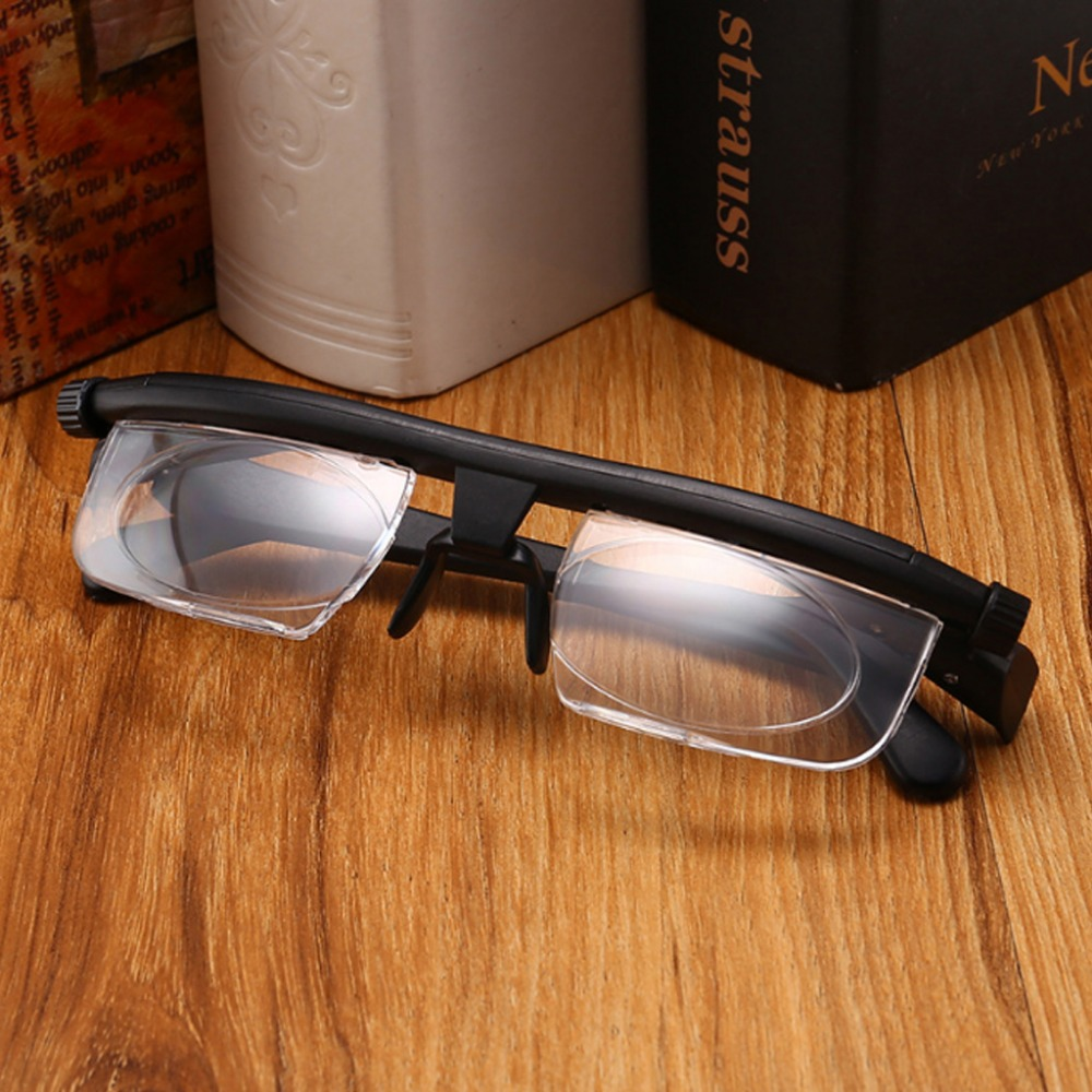 Adjustable Men Women Reading Glasses Myopia Eyeglasses -6D to +3D Diopters Magnifying Variable Strength image
