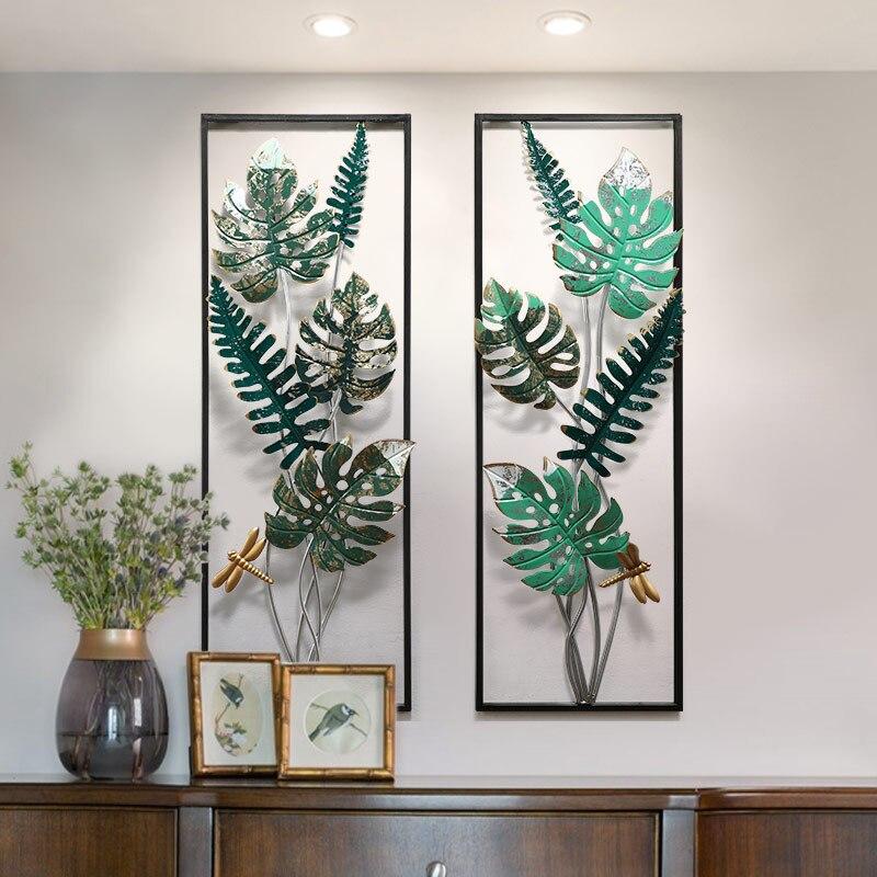 Americano tridimensionale simulazione pianta verde arazzi creativo salotto di casa portico corridoio decorazione in ferro battuto