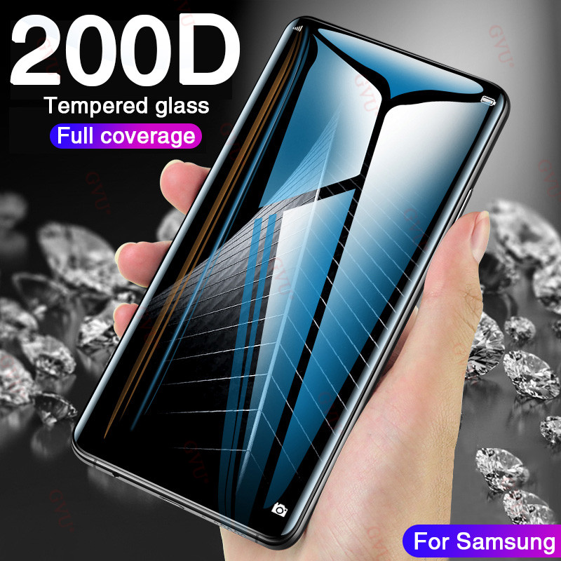 200D Full Curved Tempered Glass For Samsung Galaxy S9 S8 Plus Note 8 9 Screen Protector On Samsung S7 S6 Edge S9 Protective Film