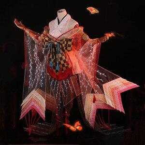 Onmyoji SSR Shiranui Diver Ali Kimono Cosplay disfraz de Halloween Disfraces para mujeres fiesta de Navidad vestido de fantasía