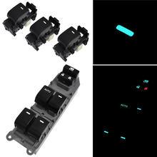 4 unids/set RAV4 para Toyota Camry Corolla Yaris Vios Highlander LED iluminado interruptor de la ventana de energía de fondo izquierda conducir