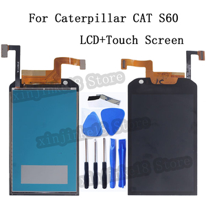 Image 1 - 4.7 Inch For Caterpillar CAT S60 LCD Display Touch screen Digitizer Assembly For Caterpillar CAT S60 Mobile Phone LCD Display