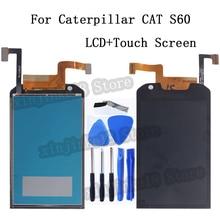 4.7 بوصة ل كاتربيلر القط S60 شاشة الكريستال السائل مجموعة المحولات الرقمية لشاشة تعمل بلمس ل كاتربيلر القط S60 شاشة هاتف LCD المحمول شاشة الكريستال السائل