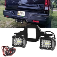 Universal Car 60W 4 Inch LED Work Light Bar with Towing Hitch Mount Brackets for Truck Trailer SUV Pickup Offroad