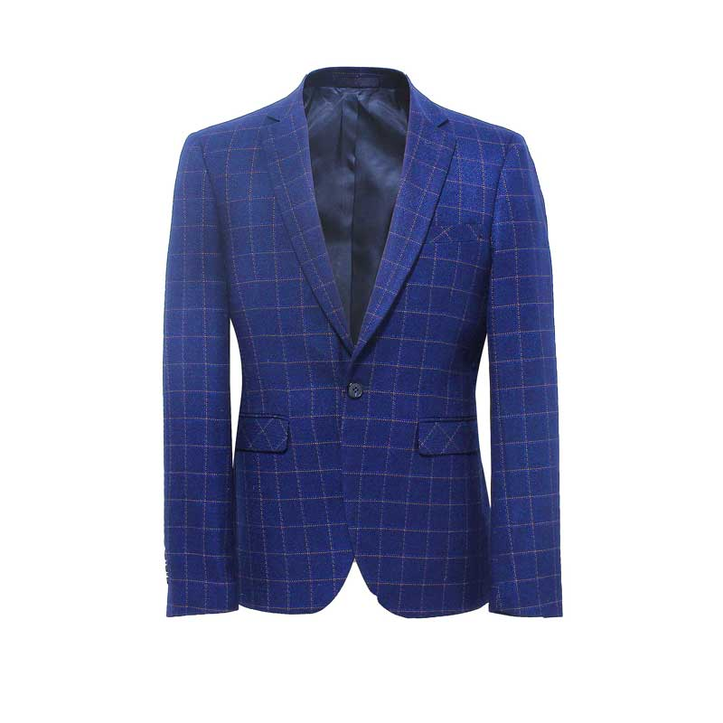 Corden Vinnie Brand Blue Suit Plaid Jacket Men's Fashion Style Casual Jacket Suit Party Business Leisure Vacation