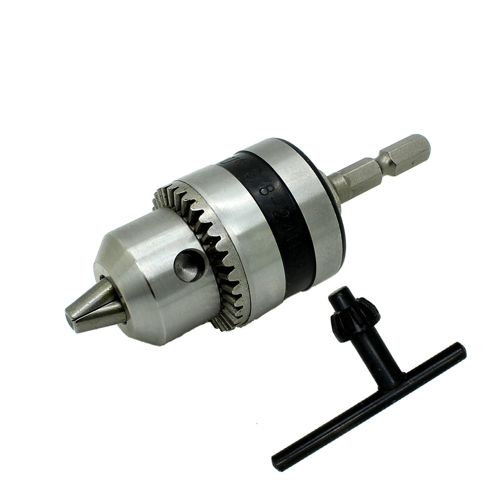 """Electric Rotary Hammer Drill Chucks power Tool accessories Cap 1.5-10mm Mount 3/8""""-24UNF with 1/4"""" Hex Shank"""