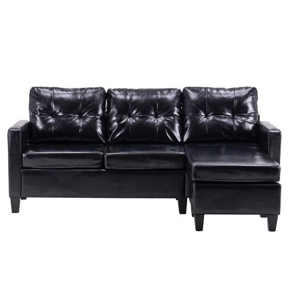 Leather Dark Sofa  6