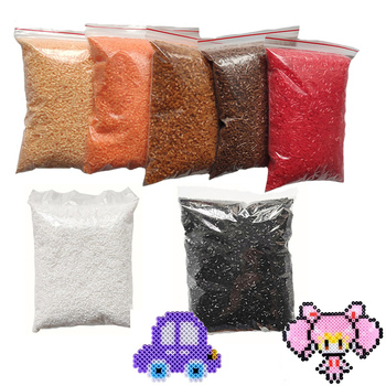 10000pcs / bag 2.6mm mini hama beads kids DIY toy colormixing white black skin color fuse beads learning toys for children 1