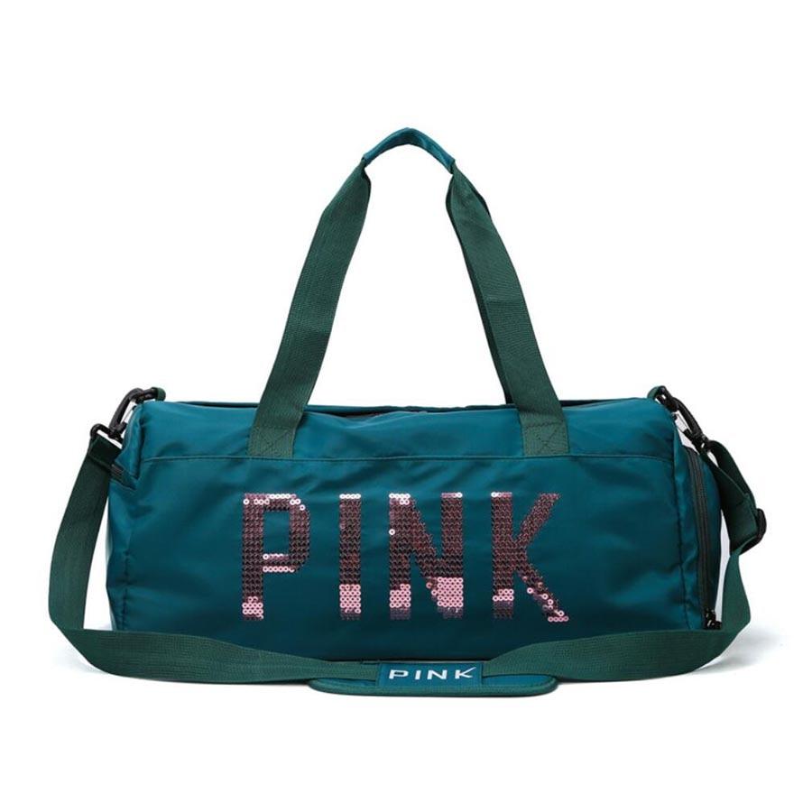 2019 Fashion Women Travel Bag Ladies Black Travel Bag Green Pink Sequins Shoulder Bag Women Handbag Weekend Sports Duffel Bags