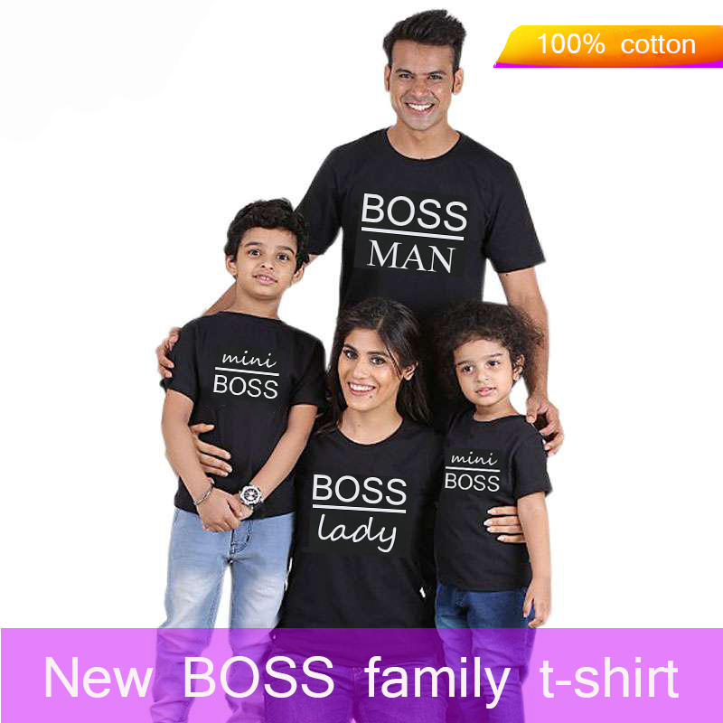 Gourd doll Family Matching Outfits Mommy Daddy Kid Son Baby T-Shirt Shirts Family Clothes Child T-Shirt Letter Print Tops