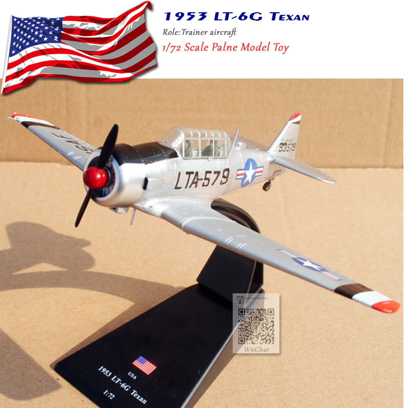 AMER 1/72 Scale North American 1953 LT-6G Texan Fighter Diecast Metal Plane Model Toy For Gift/Collection/Decoration