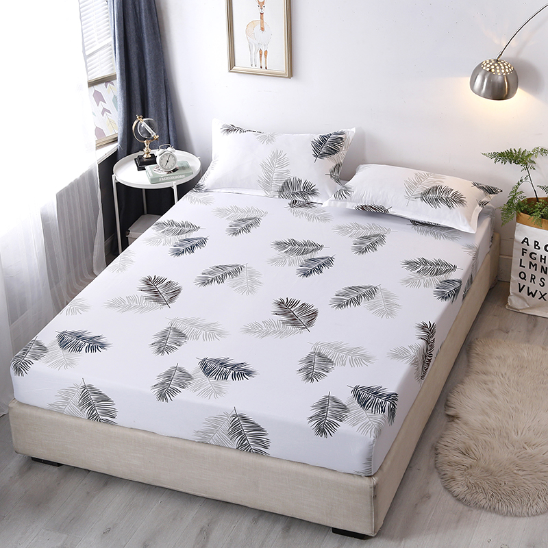 Elastic Fitted Sheet Bed Sheet Home Bed Linen Mattress Protector 90 200 180 200 200 220cm